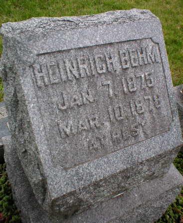 BEHM, HEINRICH - Scott County, Iowa | HEINRICH BEHM