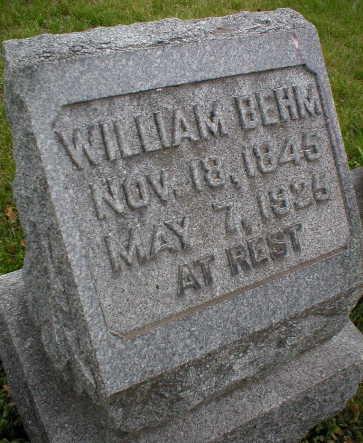 BEHM, WILLIAM - Scott County, Iowa   WILLIAM BEHM