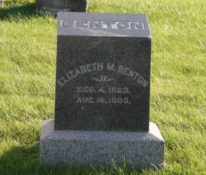 BENTON, ELIZABETH - Scott County, Iowa   ELIZABETH BENTON