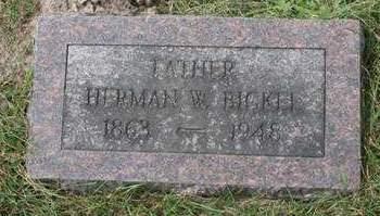BICKEL, HERMAN W. - Scott County, Iowa | HERMAN W. BICKEL