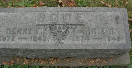 BODE, ANNIE R. - Scott County, Iowa | ANNIE R. BODE