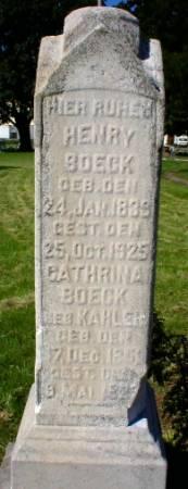 BOECK, HENRY - Scott County, Iowa | HENRY BOECK