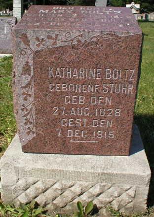 STUHR BOLTZ, KATHARINE - Scott County, Iowa | KATHARINE STUHR BOLTZ