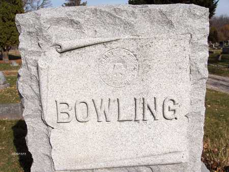 BOWLING, FAMILY MONUMENT - Scott County, Iowa | FAMILY MONUMENT BOWLING