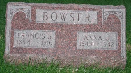 BOWSER, FRANCIS S. - Scott County, Iowa | FRANCIS S. BOWSER