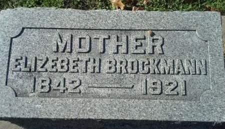 BROCKMANN, ELIZEBETH - Scott County, Iowa | ELIZEBETH BROCKMANN