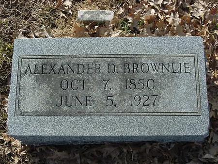 BROWNLIE, ALEXANDER D - Scott County, Iowa | ALEXANDER D BROWNLIE