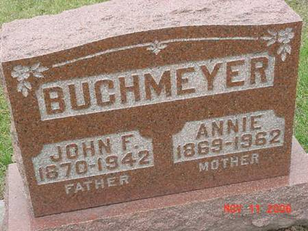 BUCKMEYER, ANNIE - Scott County, Iowa | ANNIE BUCKMEYER