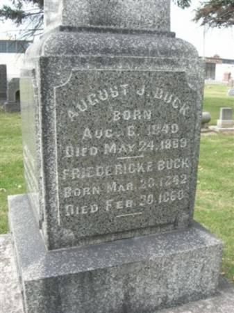 BUCK, AUGUST J. - Scott County, Iowa | AUGUST J. BUCK