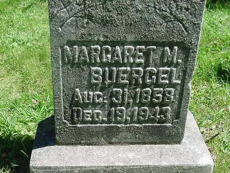 MINER BUERGEL, MARGARET - Scott County, Iowa   MARGARET MINER BUERGEL