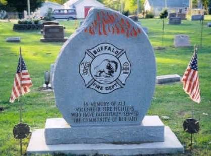 BUFFALO, FIRE FIGHTERS MEMORIAL - Scott County, Iowa | FIRE FIGHTERS MEMORIAL BUFFALO