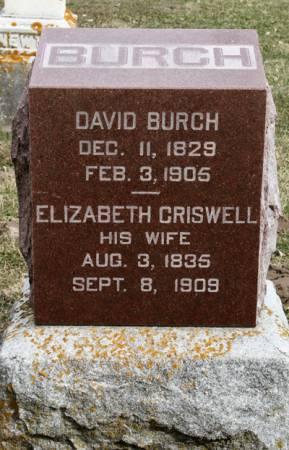 CRISWELL BURCH, ELIZABETH - Scott County, Iowa | ELIZABETH CRISWELL BURCH