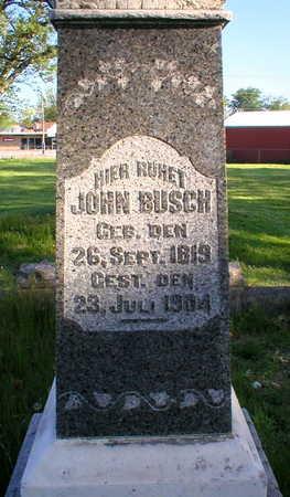 BUSCH, JOHN - Scott County, Iowa | JOHN BUSCH