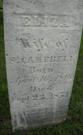 CAMPBELL, ELIZA - Scott County, Iowa | ELIZA CAMPBELL