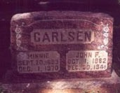 CARLSEN, MINNIE - Scott County, Iowa | MINNIE CARLSEN