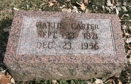 CARTER, HATTIE - Scott County, Iowa   HATTIE CARTER