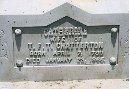 CHATTERTON, CATHERINE - Scott County, Iowa   CATHERINE CHATTERTON