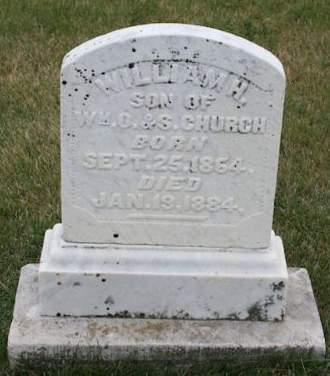CHURCH, WILLIAM H. - Scott County, Iowa   WILLIAM H. CHURCH