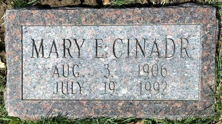 CINADR, MARY E - Scott County, Iowa | MARY E CINADR