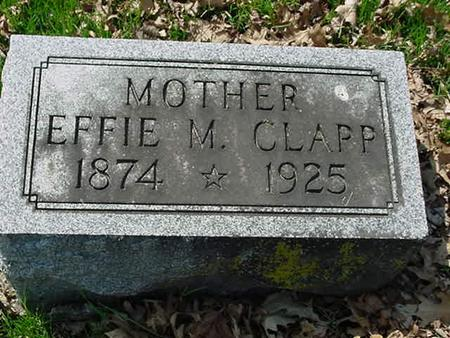 EVANS CLAPP, EFFIE M - Scott County, Iowa | EFFIE M EVANS CLAPP