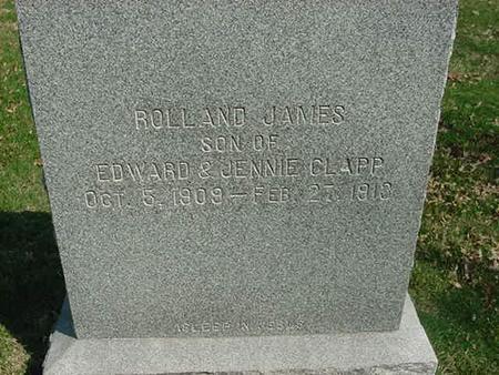 CLAPP, ROLLAND JAMES - Scott County, Iowa | ROLLAND JAMES CLAPP