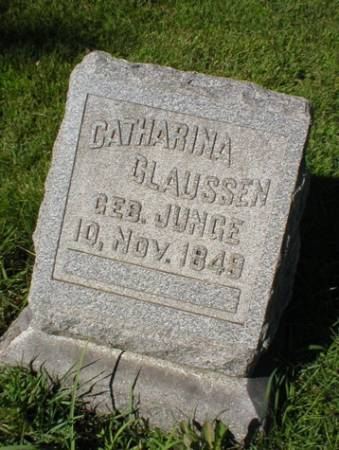 JUNGE CLAUSSEN, CATHARINA - Scott County, Iowa | CATHARINA JUNGE CLAUSSEN