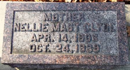 CLYDE, NELLIE MAST - Scott County, Iowa | NELLIE MAST CLYDE