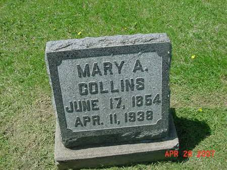 COLLINS, MARY A - Scott County, Iowa | MARY A COLLINS