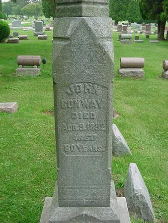 CONWAY, JOHN - Scott County, Iowa | JOHN CONWAY