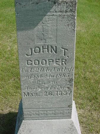 COOPER, JOHN T - Scott County, Iowa | JOHN T COOPER
