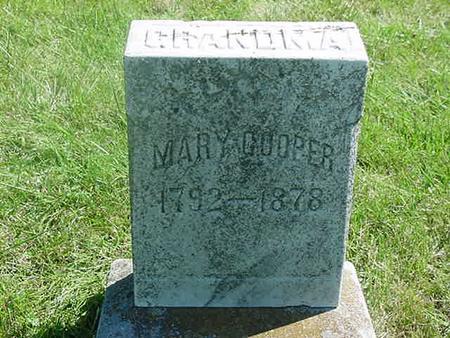 COOPER, MARY - Scott County, Iowa   MARY COOPER