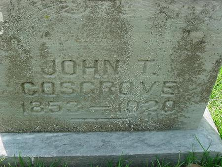 COSGROVE, JOHN T - Scott County, Iowa | JOHN T COSGROVE