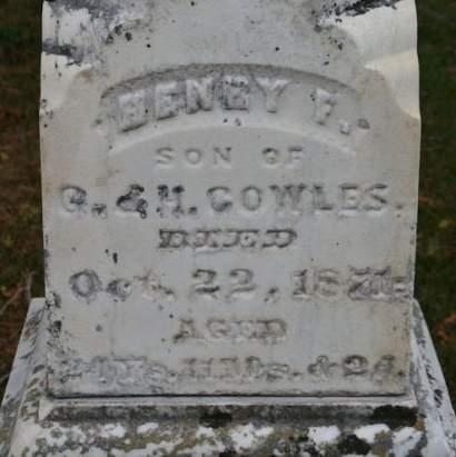 COWLES, HENRY F. - Scott County, Iowa | HENRY F. COWLES