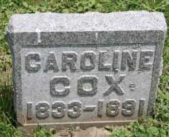 COX, CAROLINE - Scott County, Iowa   CAROLINE COX