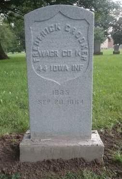 CROOKER, FRIEDERICK - Scott County, Iowa | FRIEDERICK CROOKER