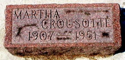 CROUSOTTE, MARTHA - Scott County, Iowa | MARTHA CROUSOTTE