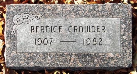 CROWDER, BERNICE - Scott County, Iowa | BERNICE CROWDER