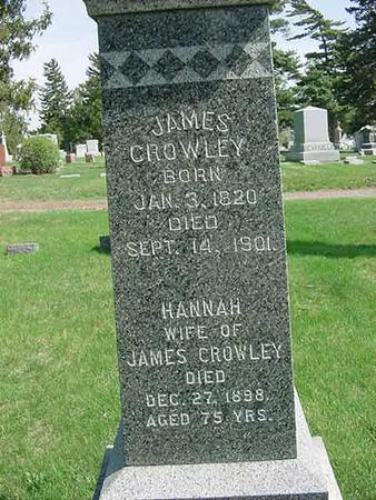 CROWLEY, JAMES - Scott County, Iowa | JAMES CROWLEY