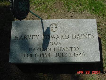 DAINES, HARVEY EDWARD - Scott County, Iowa | HARVEY EDWARD DAINES