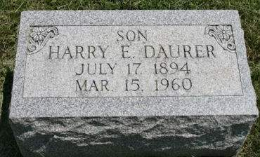 DAURER, HARRY E. - Scott County, Iowa | HARRY E. DAURER