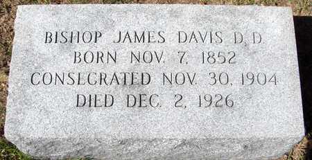 DAVIS, BISHOP JAMES - Scott County, Iowa | BISHOP JAMES DAVIS