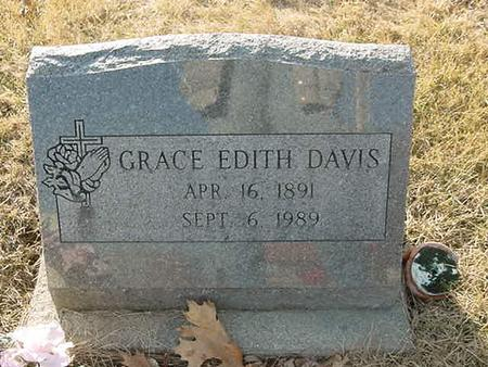 DAVIS, GRACE EDITH - Scott County, Iowa   GRACE EDITH DAVIS