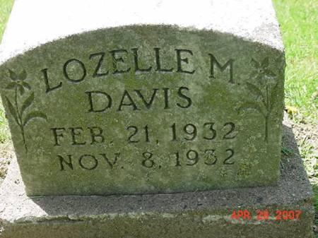 DAVIS, LOZELLE M - Scott County, Iowa   LOZELLE M DAVIS