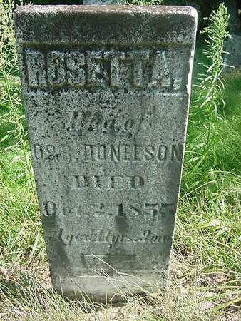 DONELSON, ROSETTA - Scott County, Iowa   ROSETTA DONELSON