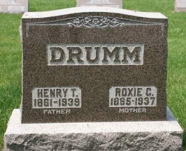 HOUVENAGLE DRUMM, ROXIE C. - Scott County, Iowa   ROXIE C. HOUVENAGLE DRUMM