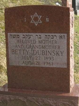 DUBINSKY, BETTY - Scott County, Iowa | BETTY DUBINSKY