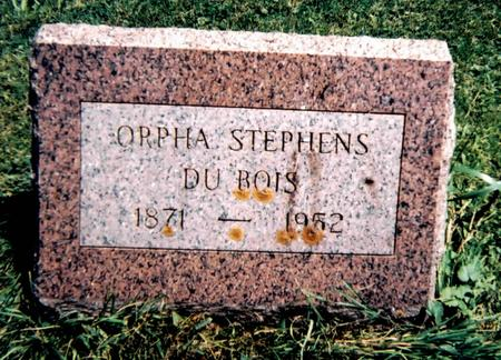 STEPHENS DUBOIS, ORPHA - Scott County, Iowa | ORPHA STEPHENS DUBOIS
