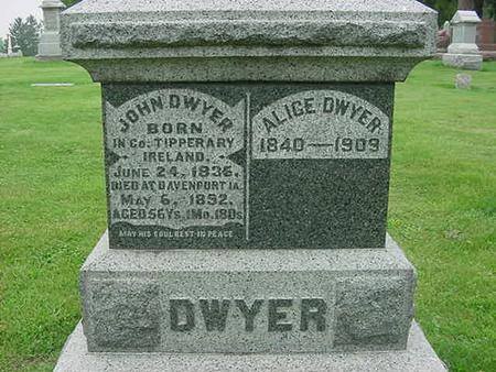 DWYER, ALICE - Scott County, Iowa | ALICE DWYER