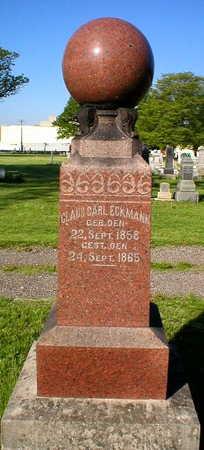 ECKMANN, CLAUS CARL - Scott County, Iowa   CLAUS CARL ECKMANN