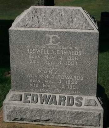EDWARDS, MARY J. - Scott County, Iowa   MARY J. EDWARDS